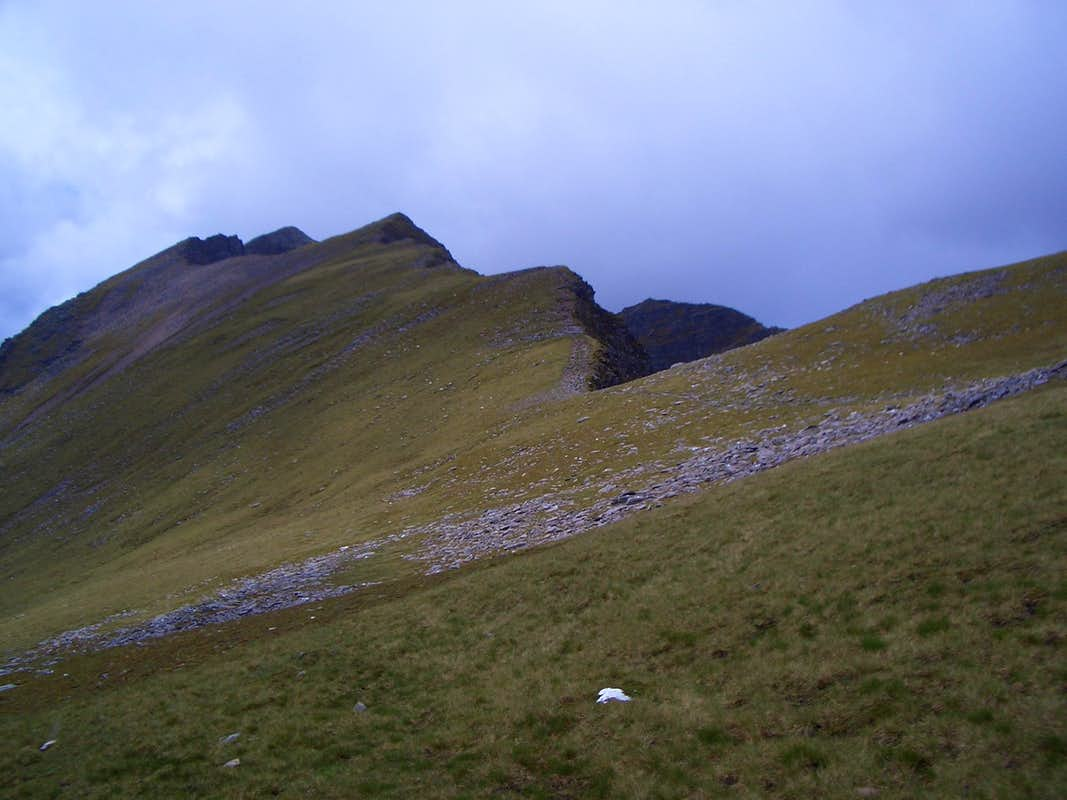 The ridge towards Mullach an Rathain