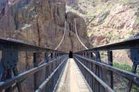 Black bridge over Colorado