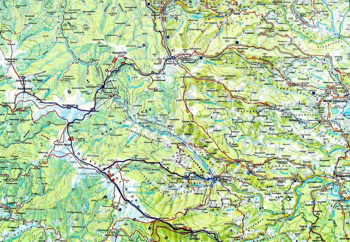 Pack alps topo map photos diagrams topos summitpost pack alps topo map sciox Gallery