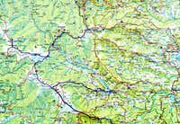 Pack Alps topo map