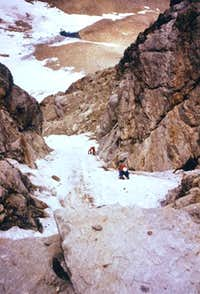 During the second ascent of the Direttissima route to the N face of Monte Emilius  <i>3559m</i>