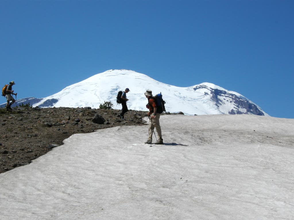 Traversing the Ridge with Mt. Rainier