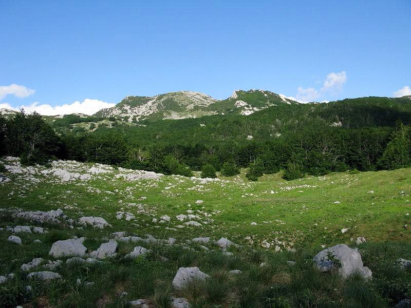 Babin Vrh peak and...