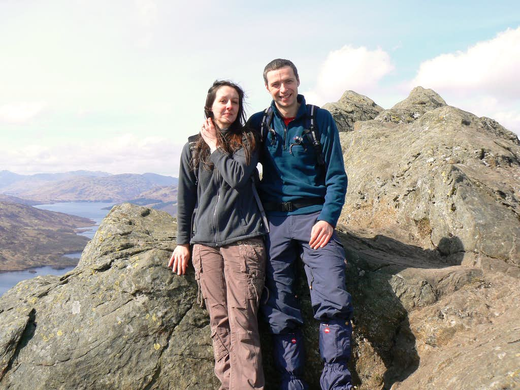 On the summit of Ben A'an