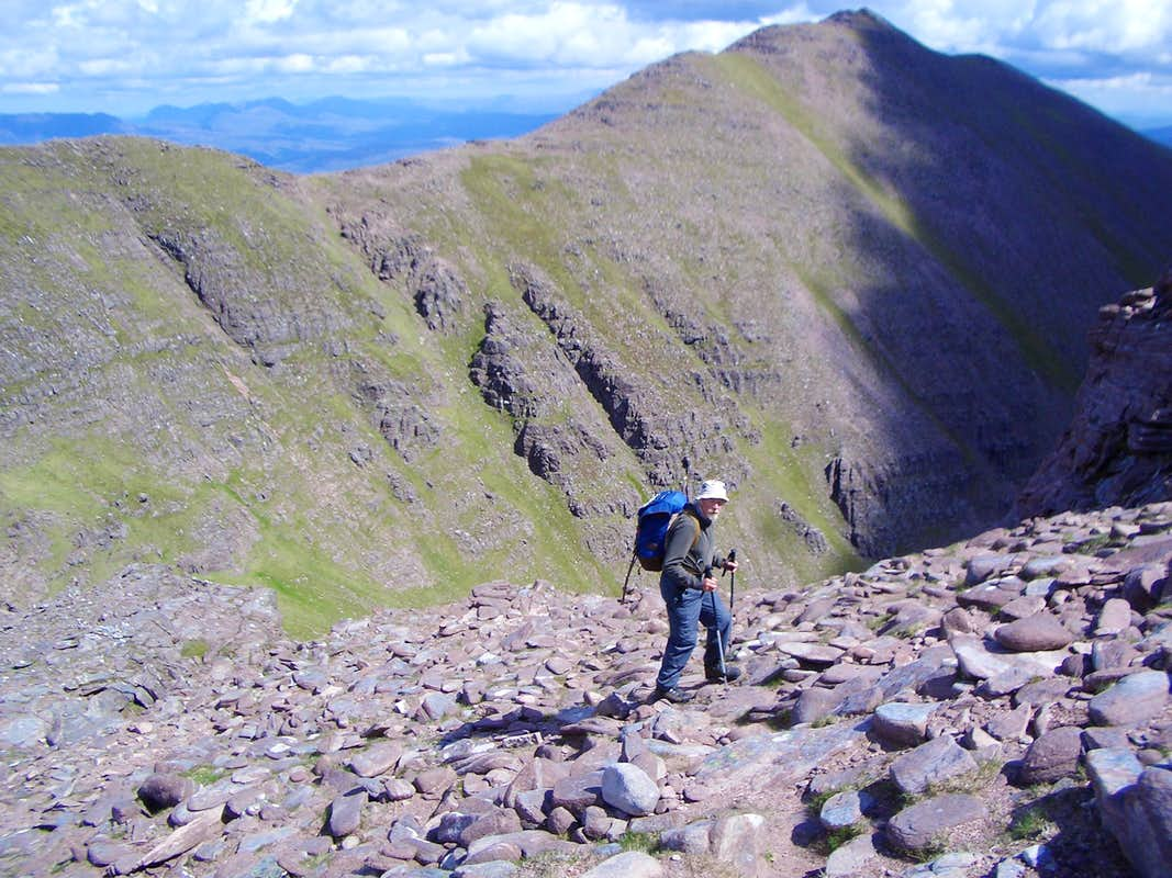 Approaching the top of AnTeallach