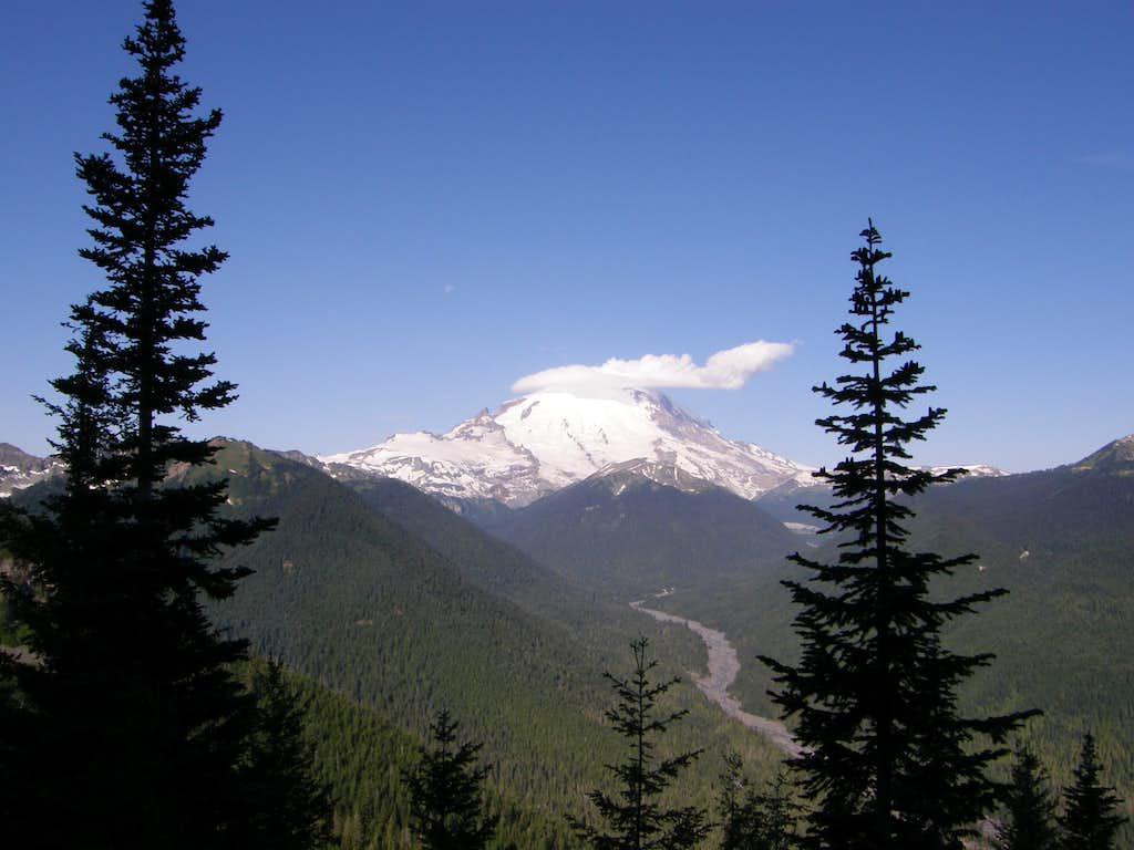 Rainier view on Crystal peak trail.