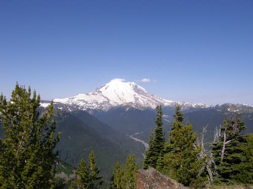 Rainier from Crystal peak summit