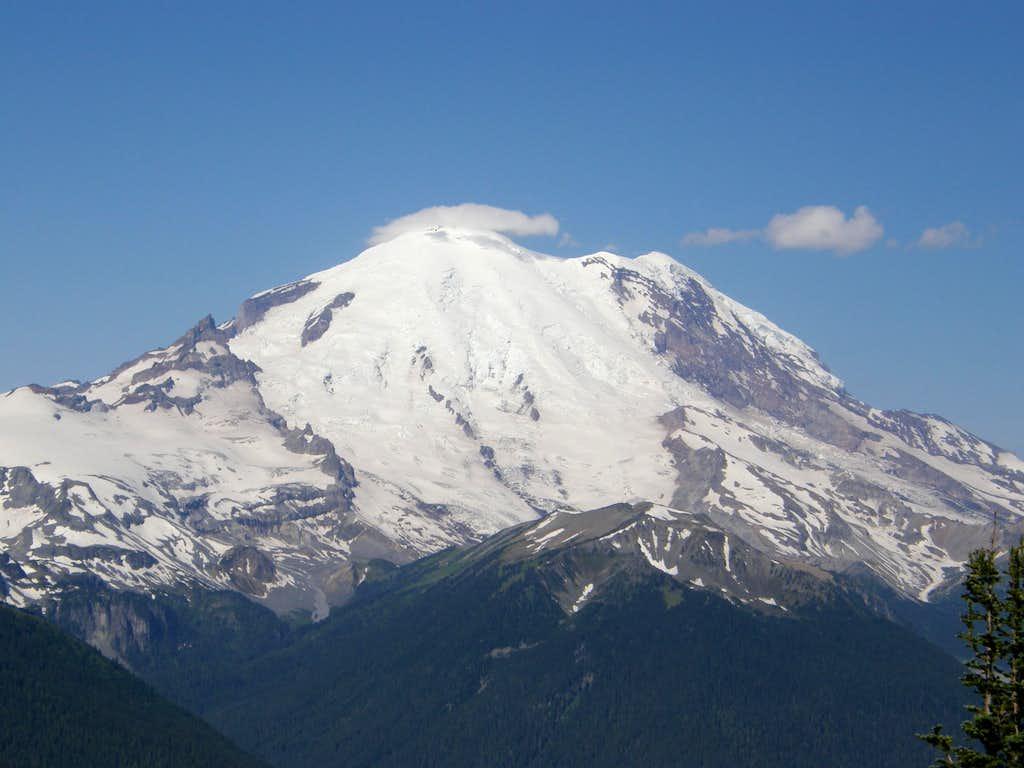 Rainier from Crystal peak summit