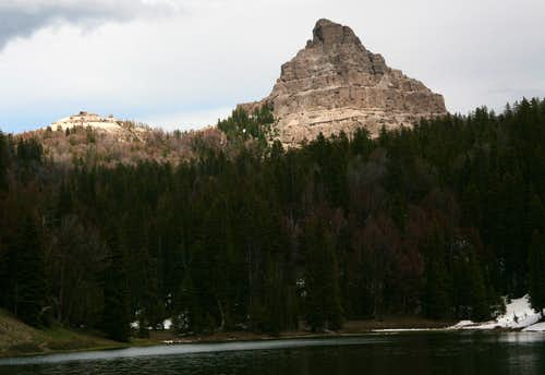 Sublette Peak and Wind River Lake