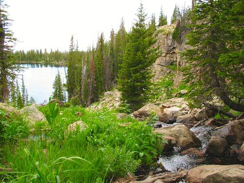 Stream between Cliff Lake and Petit Lake