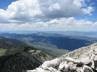 Looking SW from the summit