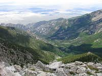 Granite Creek Canyon from the summit