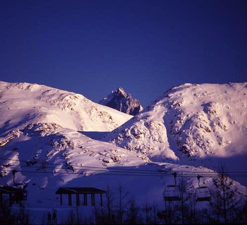 La Meije seen from the ski...