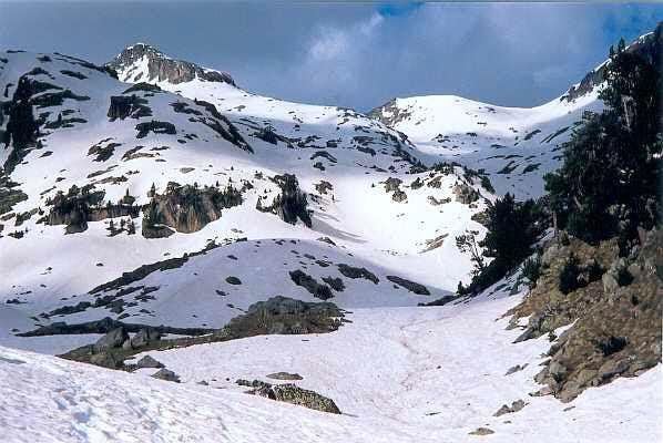 Travessani peak from Colomers