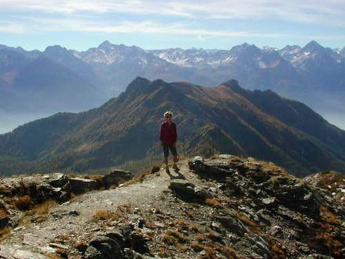 Down, the ridge Becca...
