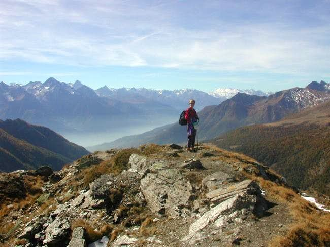 The last ridge; far away,...