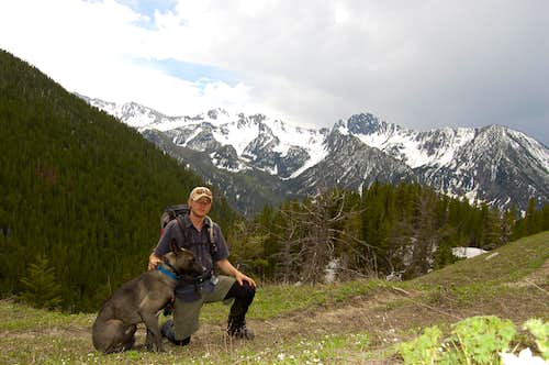 My dog and I, Absarokas MT