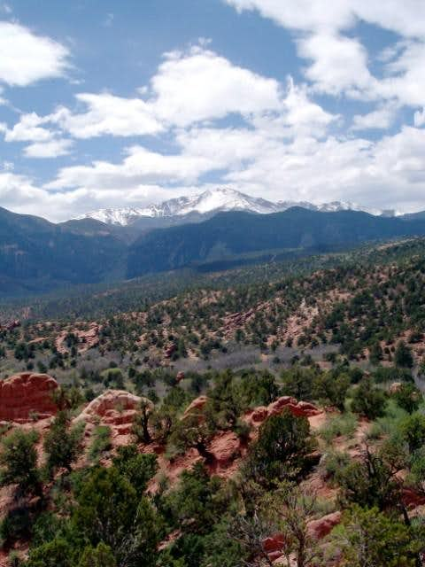 Pike's Peak from Garden of...