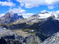 Mount Goodsir, Sharp Mtn, Helmet Falls From the South