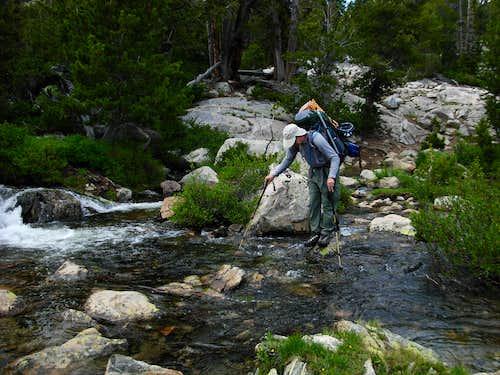 Gannett Peak Trip - Double Lake Crossing