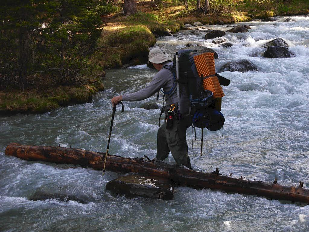 Gannett Peak Trip - Gannett Creek Crossing