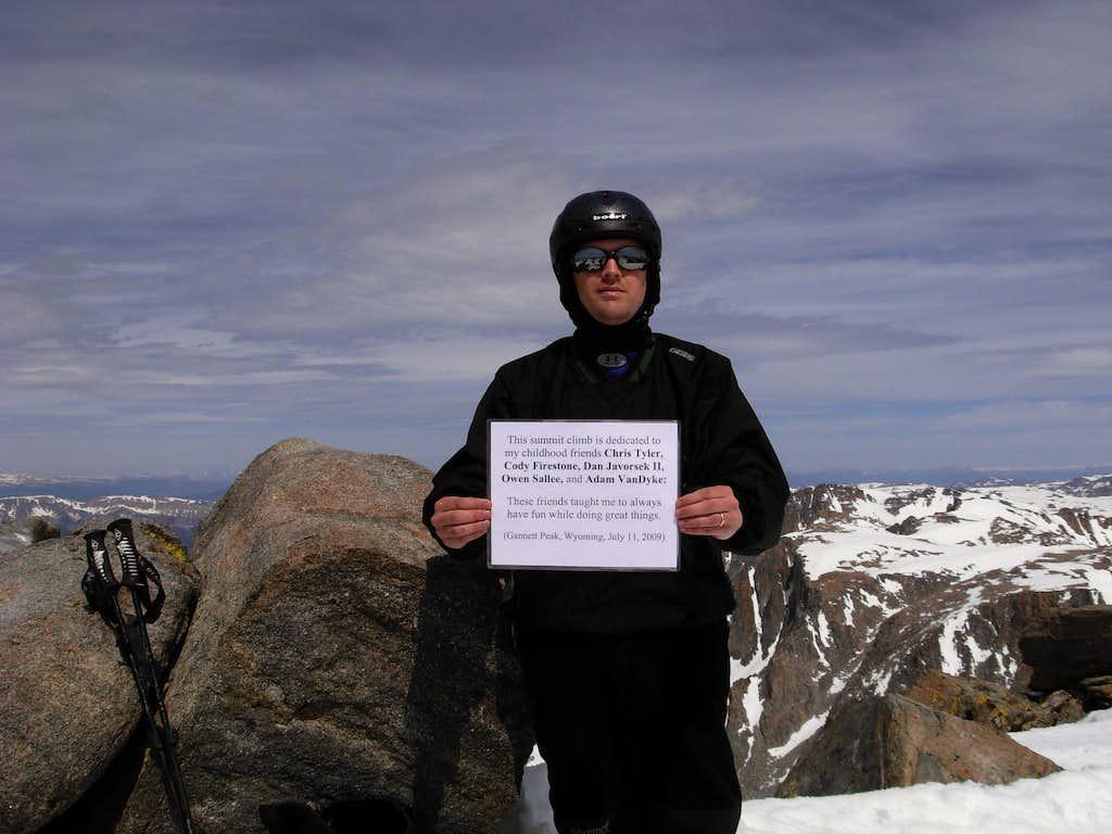 Gannett Peak Trip - Summit Pose