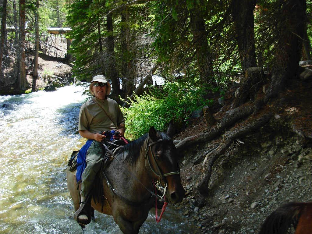 Gannett Peak Trip - Jack Horsebacking