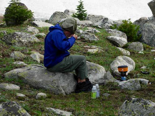 Gannett Peak Trip - Raincover Ice Water
