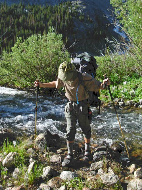 Gannett Peak Trip - Klondike Creek Crossing