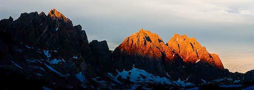Sunset Over Thunderbolt and North Palisade