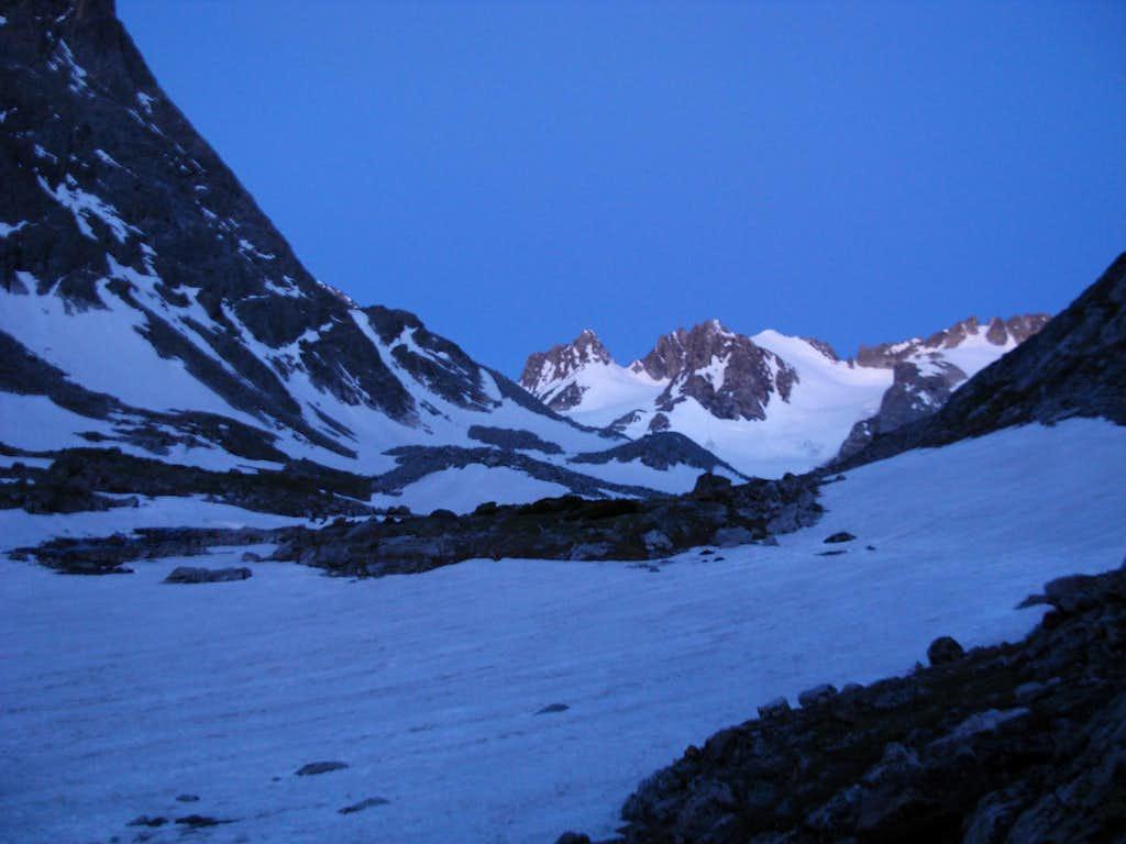 Approaching Gannett Peak