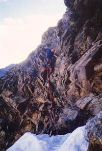 28 luglio 1984: at the base of the North face<br> of monte Emilius <i>3559m</i>
