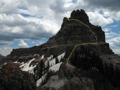 Sublette Peak-- Route Diagram