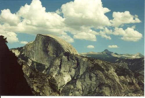 Half Dome from the Falls trail