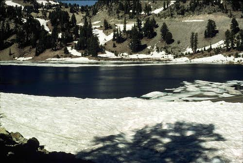 Lake Helen on Lassen Peak