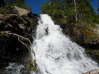 Willow lake waterfall