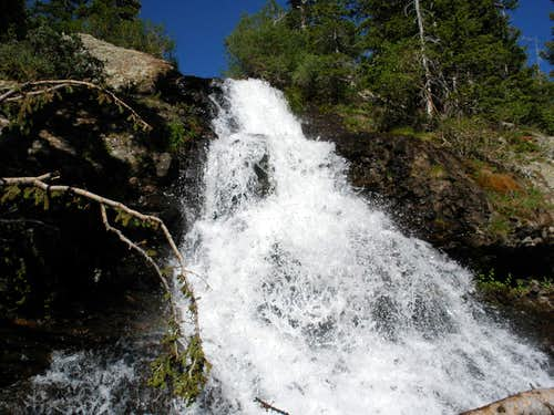 Willow lake waterfall