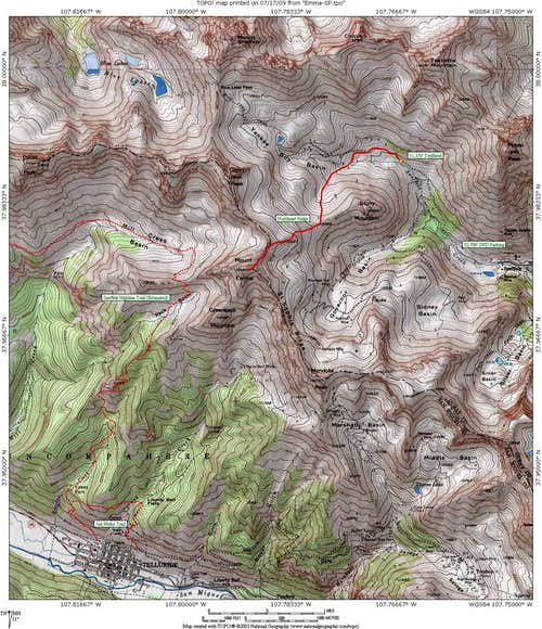 Mount Emma Area Map