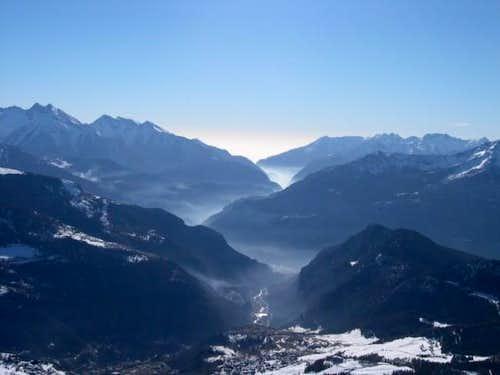 the south central Aosta...