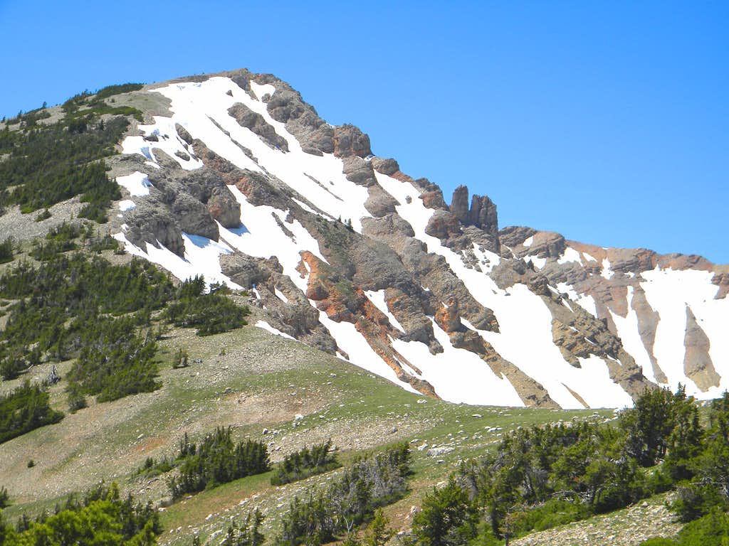 Heading up the East Ridge