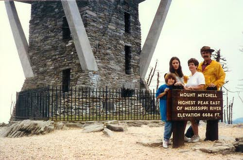 Anderson Family Mount Mitchell North Carolina 082687
