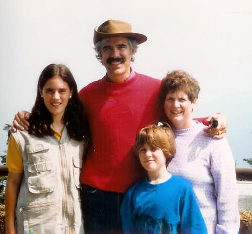 Anderson Family Clingmans Dome Tennessee 082687