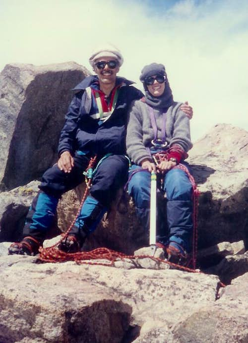 Vanessa and Rik Gannett Peak Wyoming 072490