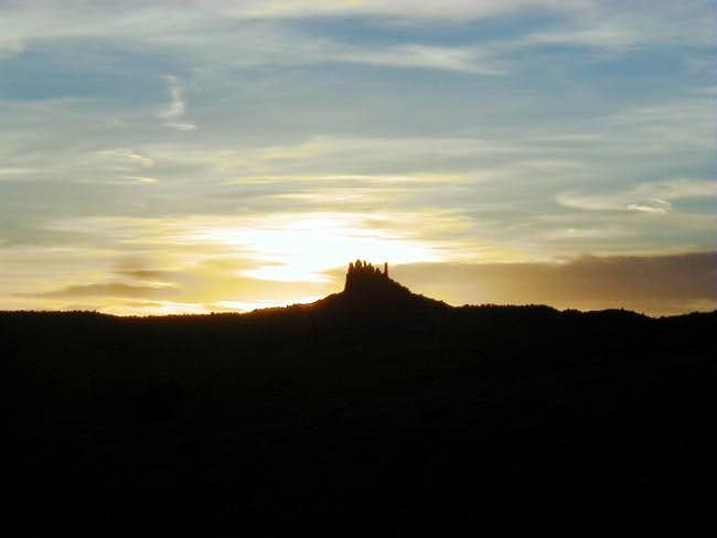Sunset behind Family Butte....