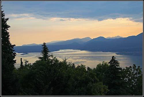 Garda lake from below Monte Baldo