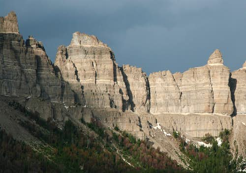Pinnacle Buttes and Stormy Skies