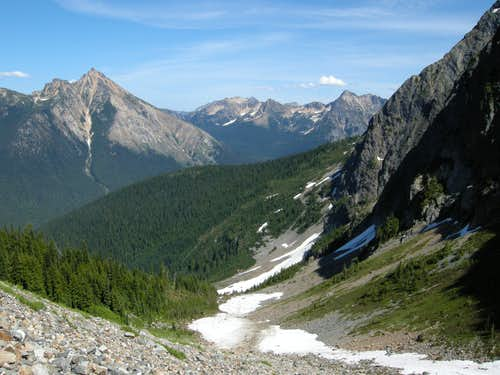 Looking north to Mount Hardy