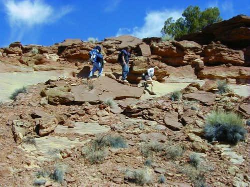More desert slickrock walking...