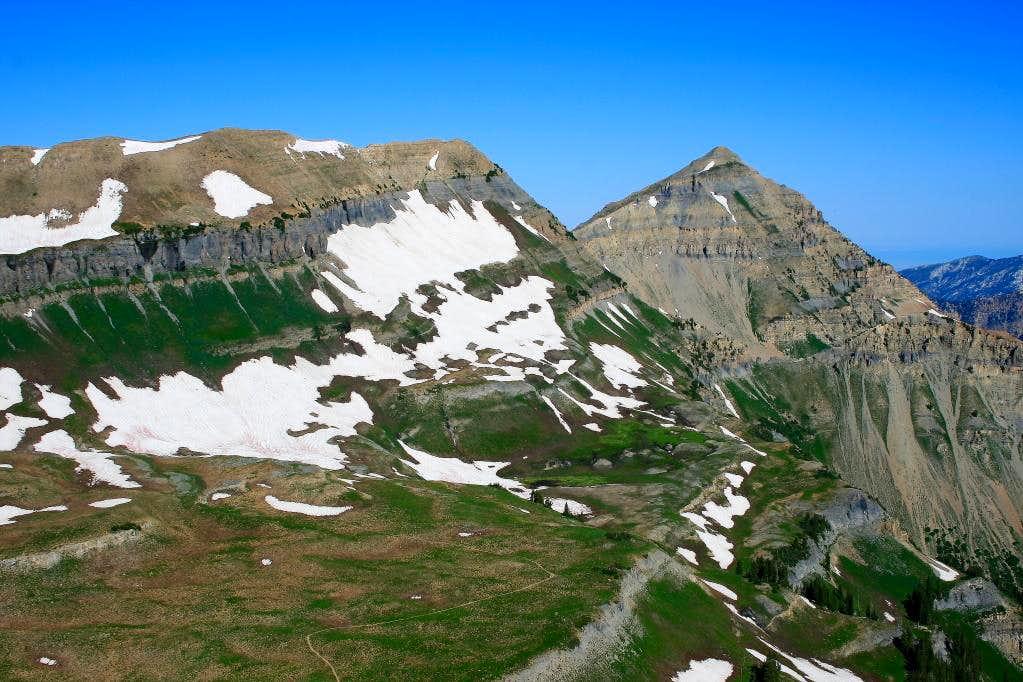 North Timpanogos and Bomber Peak.