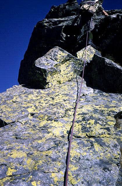 climbing on the ridge of...
